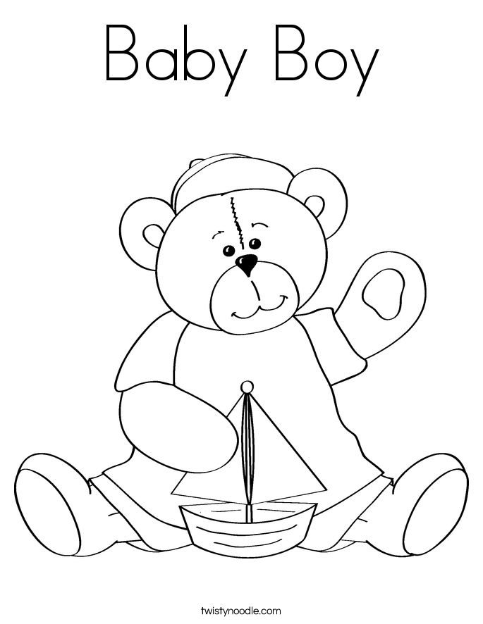 Babyboy - Free Coloring Pages