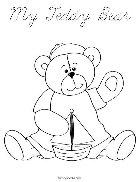 Cutie Bear 4 Coloring Page