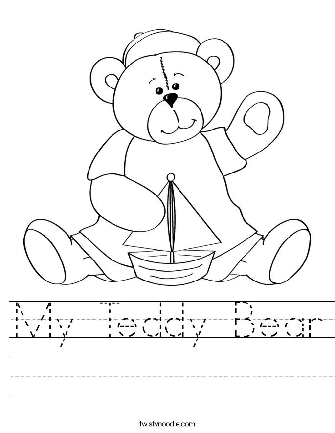 Teddy Bear Worksheet Twisty Noodle