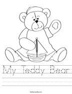 My Teddy Bear Handwriting Sheet