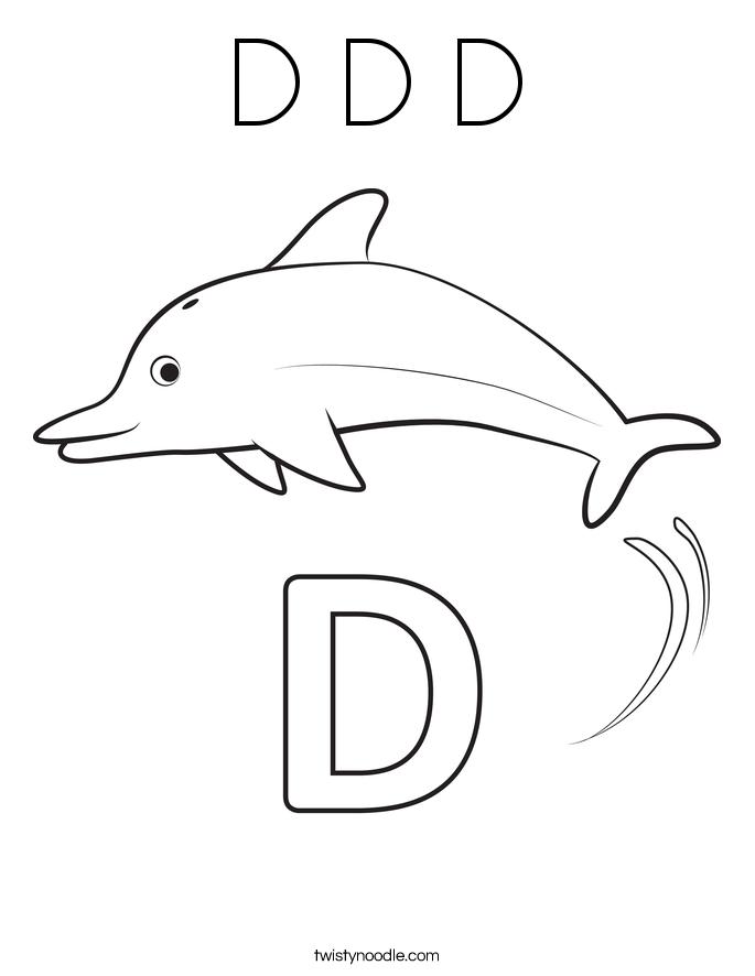 D D D Coloring Page