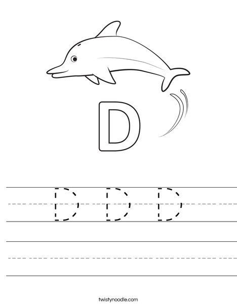 D Dolphin Worksheet