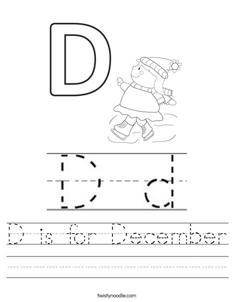D is for December Worksheet