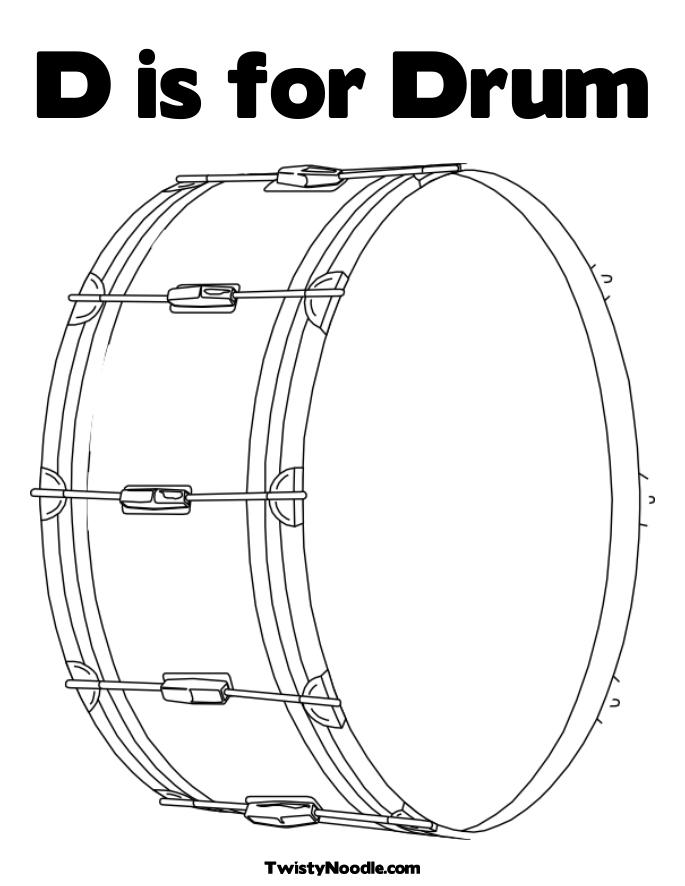 Free How To Draw A Drum Kit Coloring Pages Drums Coloring Page