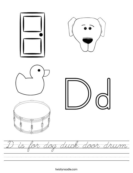 D is for Worksheet