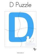 D Puzzle Coloring Page