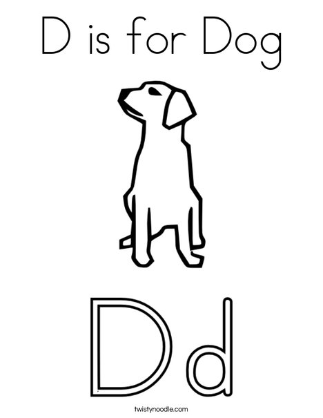 d is for dog coloring page twisty noodle. Black Bedroom Furniture Sets. Home Design Ideas