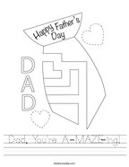 Dad, You're A-MAZE-ing Handwriting Sheet