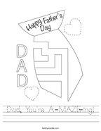 Dad, You're A-MAZE-ing Handwriting Sheet