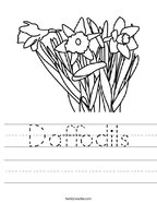 Daffodils Handwriting Sheet