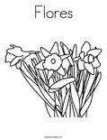 Flores Coloring Page