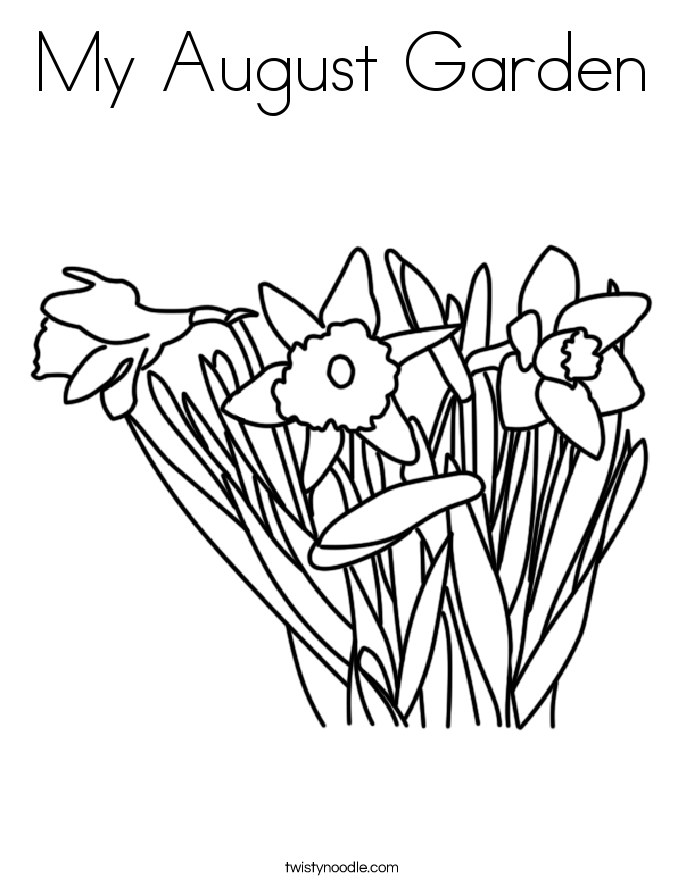My August Garden Coloring Page