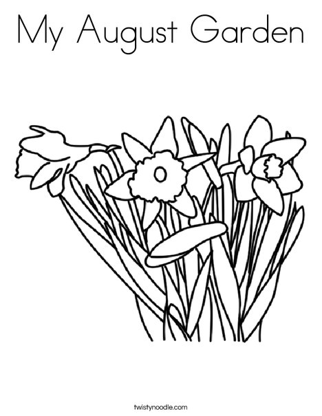 Daffodils Coloring Page