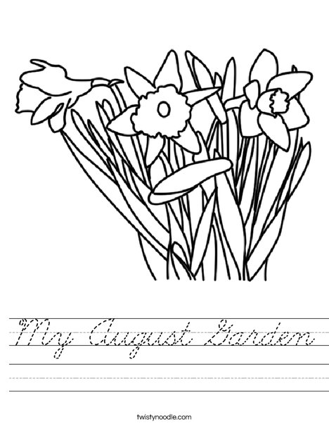 Daffodils Worksheet