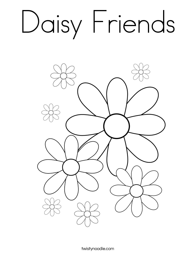 Daisy Friends Coloring Page