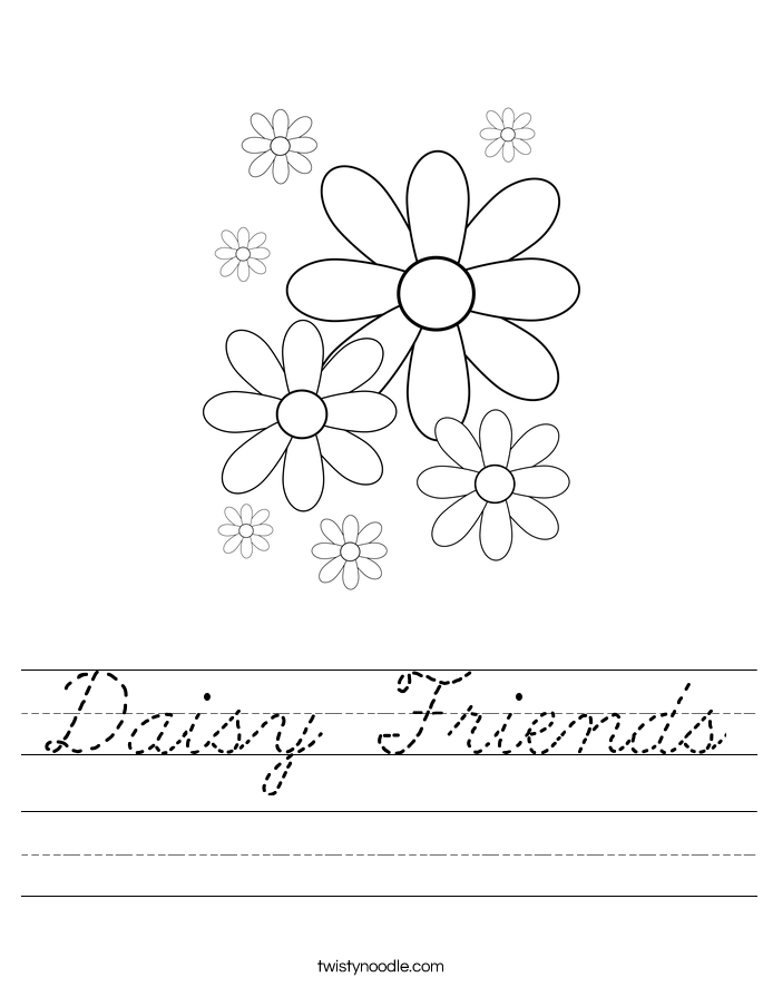 Daisy Friends Worksheet