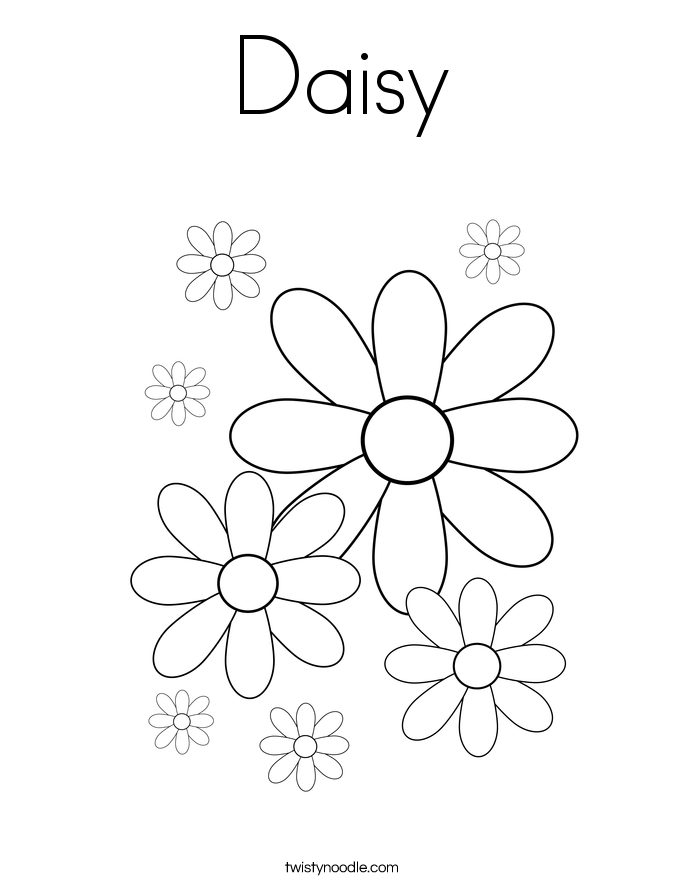 Daisy Coloring Page Twisty Noodle