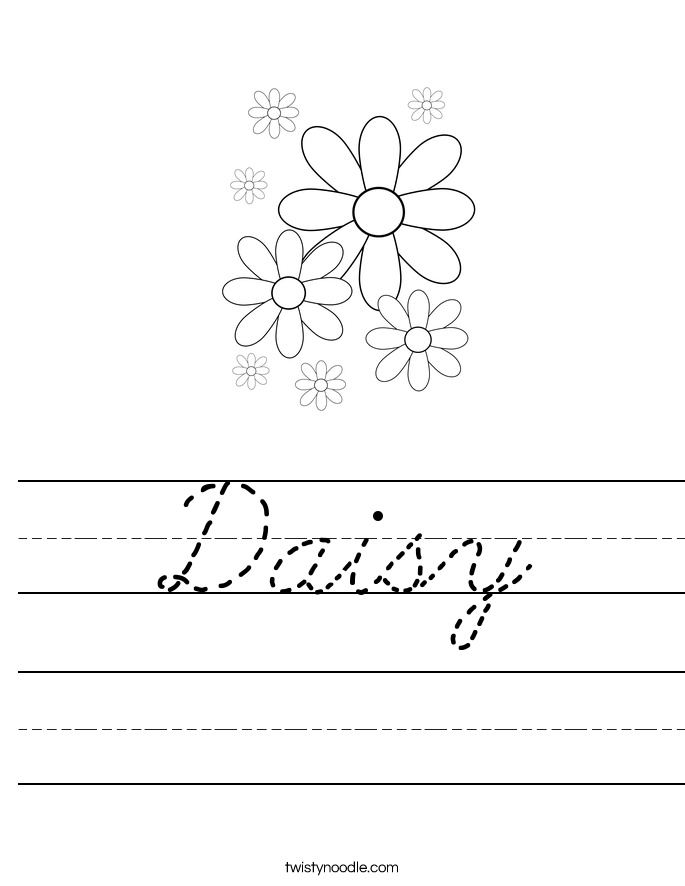 Daisy Worksheet