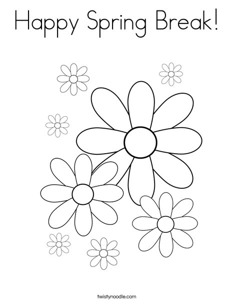 spring break coloring pages - photo#28