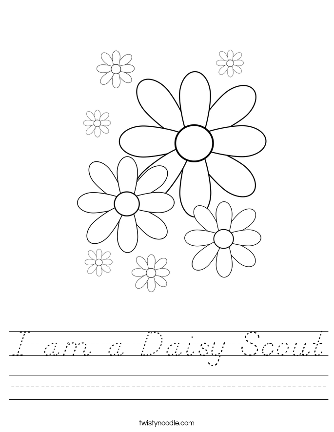 I am a Daisy Scout Worksheet