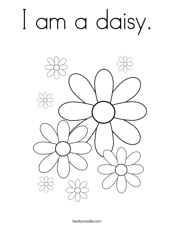 I am a daisy. Coloring Page