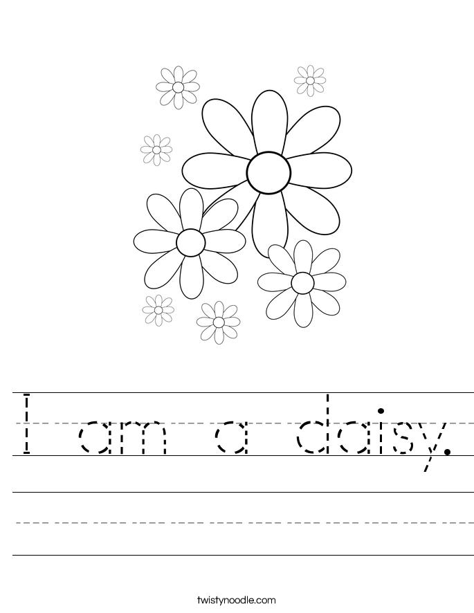 I am a daisy. Worksheet
