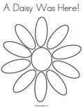 A Daisy Was Here!Coloring Page