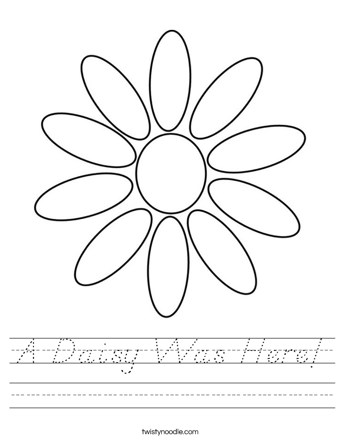 A Daisy Was Here! Worksheet