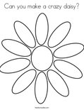 Can you make a crazy daisy? Coloring Page
