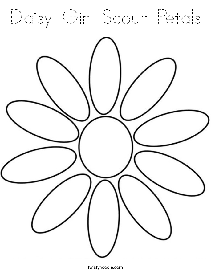 Daisy Girl Scout Petals Coloring Page