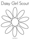 Daisy Girl ScoutColoring Page