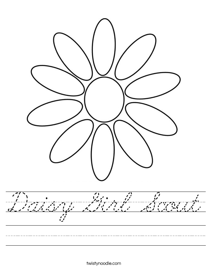 Daisy Girl Scout Worksheet