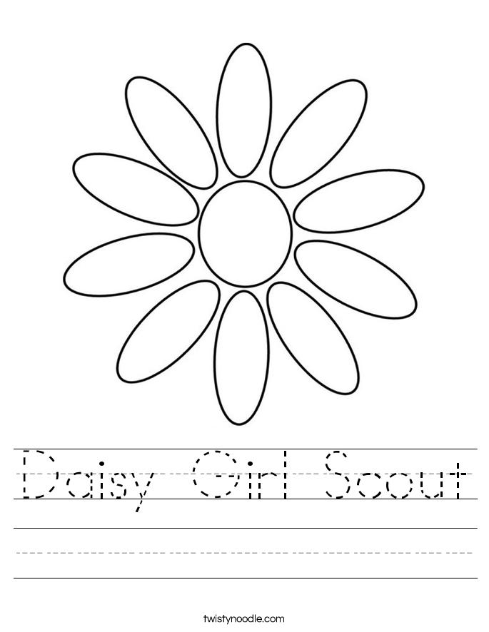 Daisy Girl Scout Worksheet