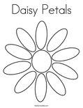 Daisy PetalsColoring Page