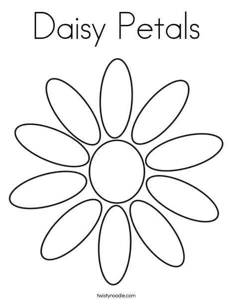 Daisy Flower Template Coloring  Coloring Pages