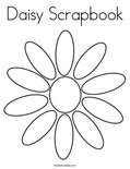 Daisy Scrapbook Coloring Page