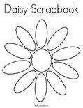 Daisy ScrapbookColoring Page