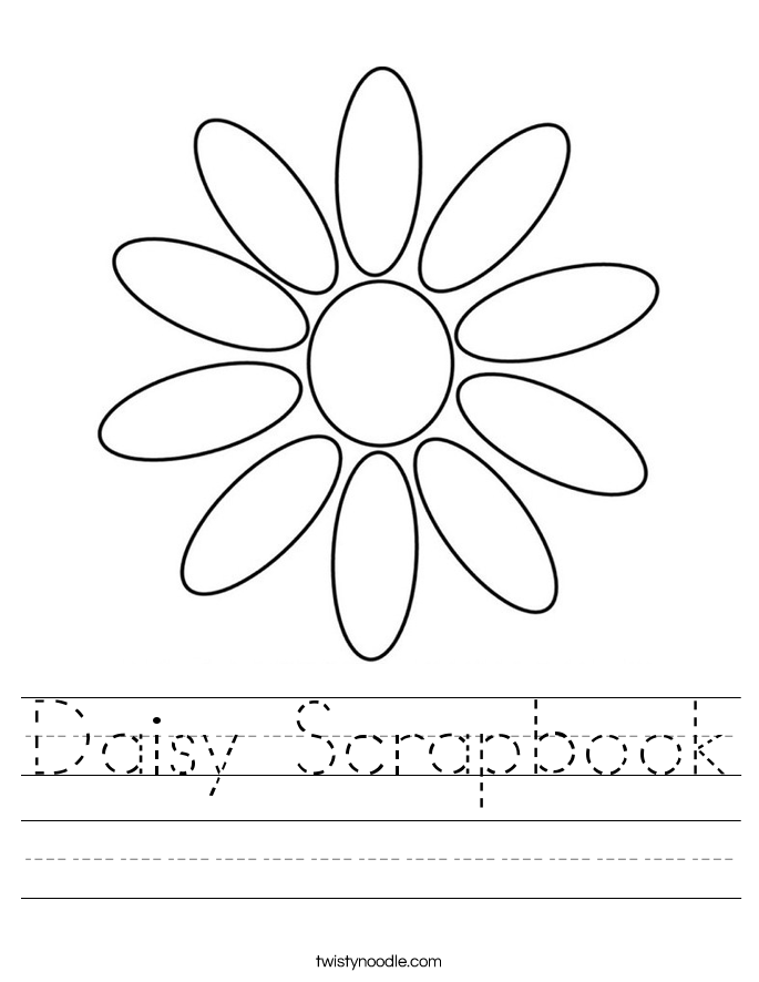 Daisy Scrapbook Worksheet