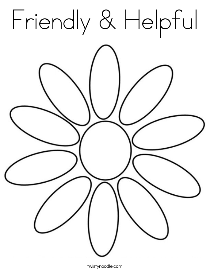 Friendly & Helpful Coloring Page