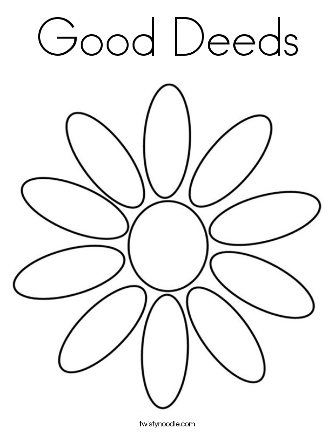 Good Deeds Coloring Page