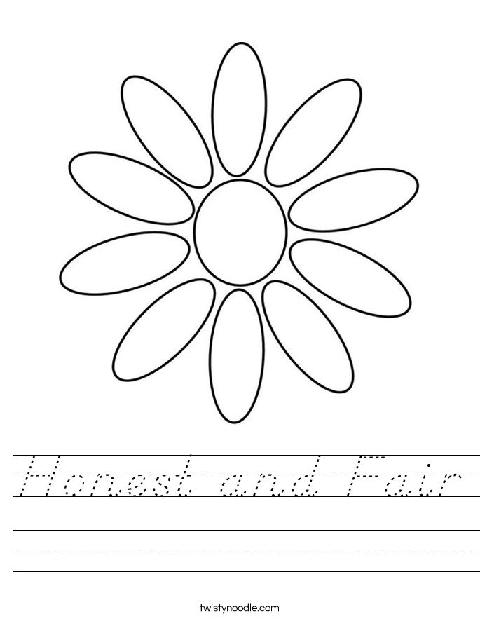 Honest and Fair Worksheet