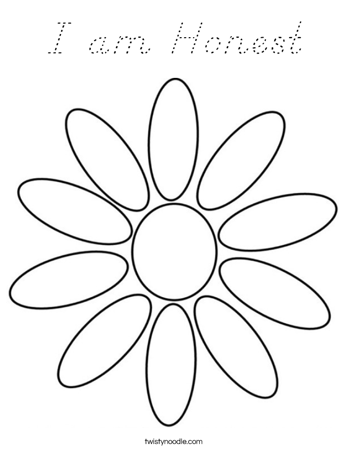 I am Honest Coloring Page