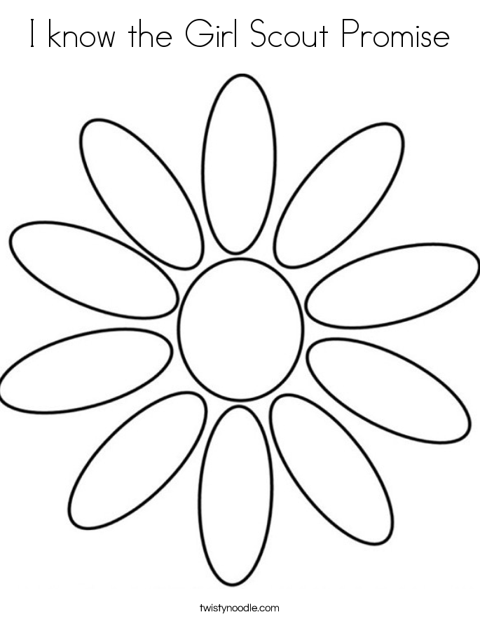 I know the Girl Scout Promise Coloring Page