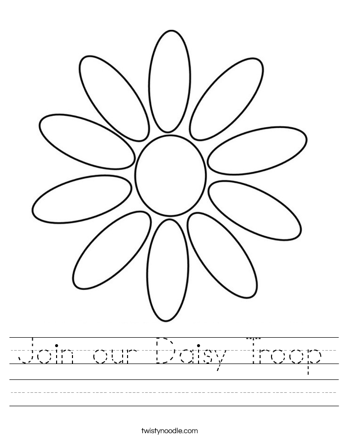 Join our Daisy Troop Worksheet