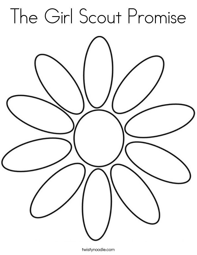 The Girl Scout Promise Coloring Page