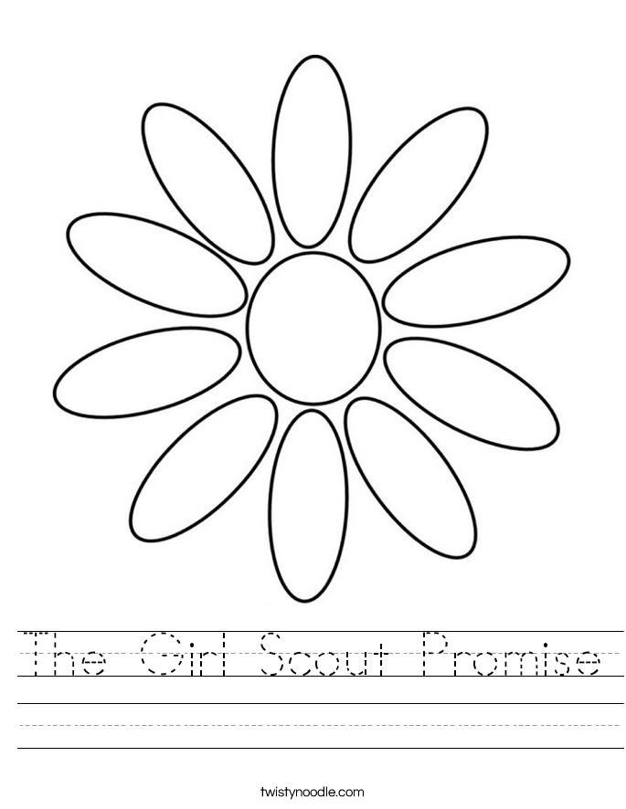The Girl Scout Promise Worksheet