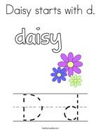 Daisy starts with d Coloring Page