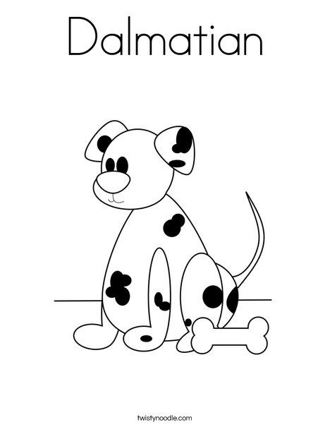 Dalmatian Coloring Page