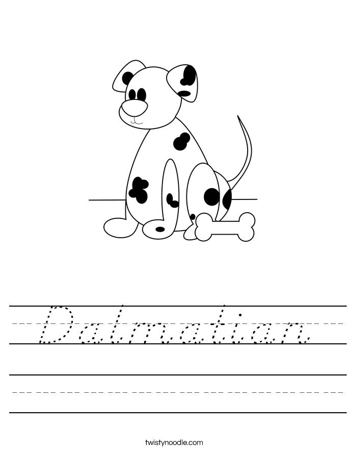 Dalmatian Worksheet