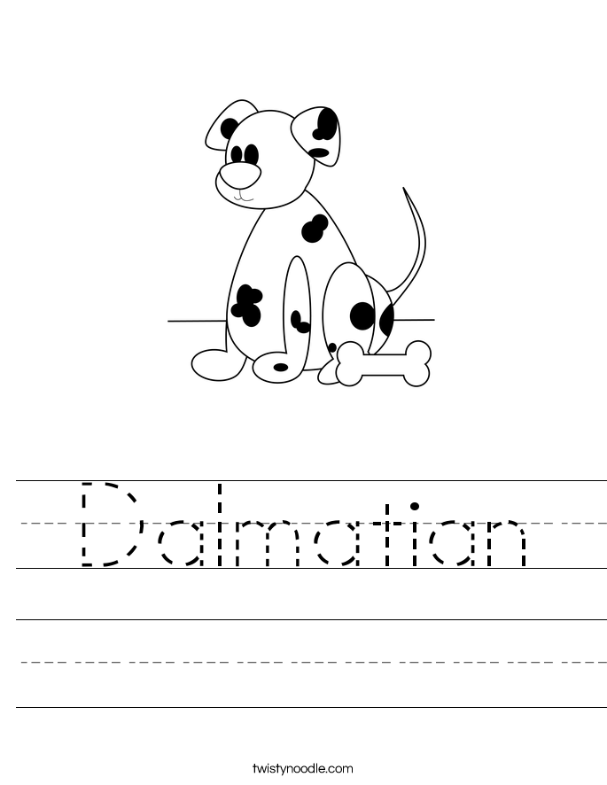 Dalmatian Worksheet
